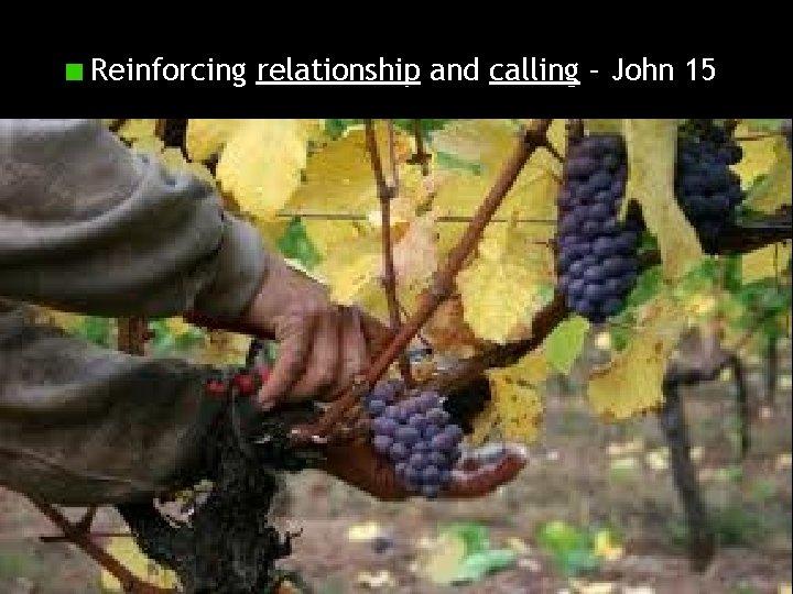 Reinforcing relationship and calling – John 15