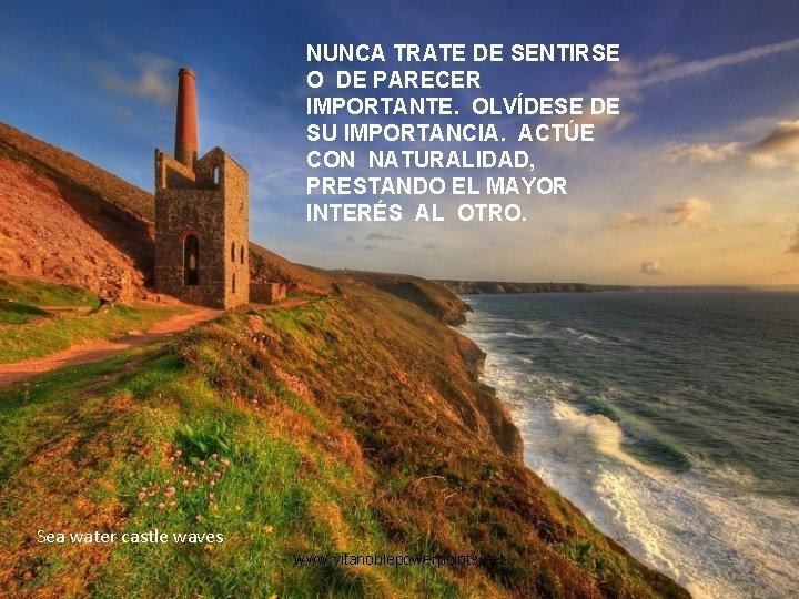 NUNCA TRATE DE SENTIRSE O DE PARECER IMPORTANTE. OLVÍDESE DE SU IMPORTANCIA. ACTÚE CON