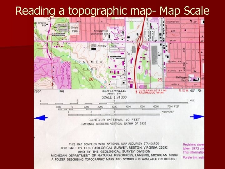 Reading a topographic map- Map Scale