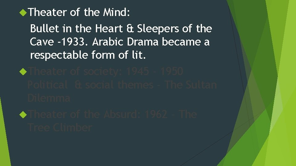 Theater of the Mind: Bullet in the Heart & Sleepers of the Cave