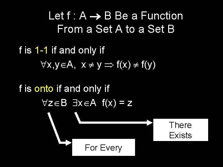 Let f : A B Be a Function From a Set A to a