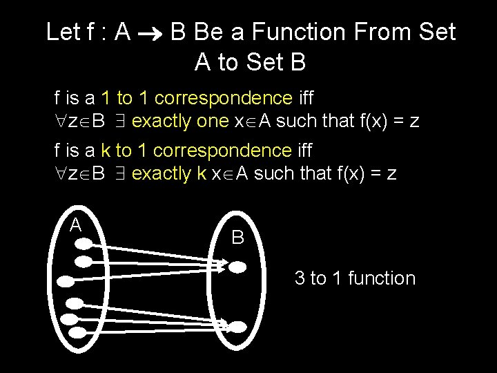 Let f : A B Be a Function From Set A to Set B