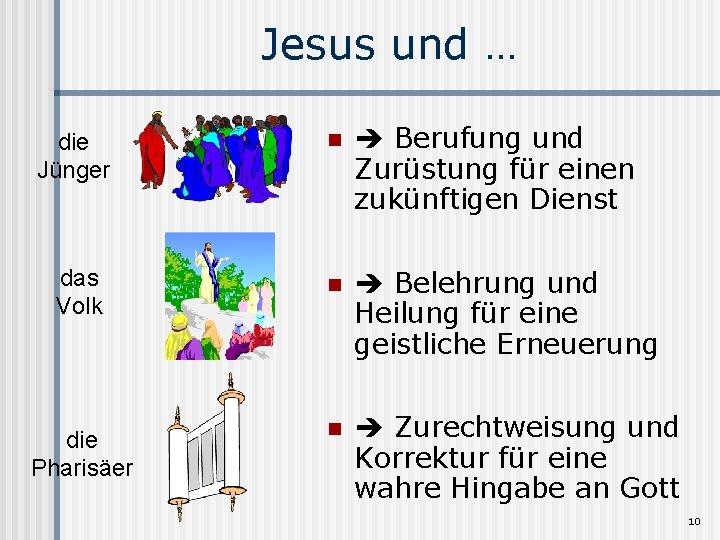 Jesus und … die Jünger n Berufung und Zurüstung für einen zukünftigen Dienst das