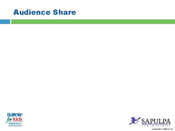 Audience Share Copyright, 2012. Battelle for Kids.