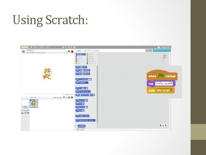 Using Scratch: