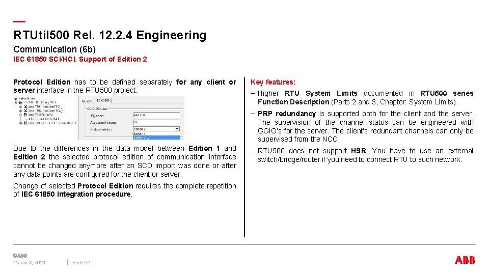 — RTUtil 500 Rel. 12. 2. 4 Engineering Communication (6 b) IEC 61850 SCI/HCI.