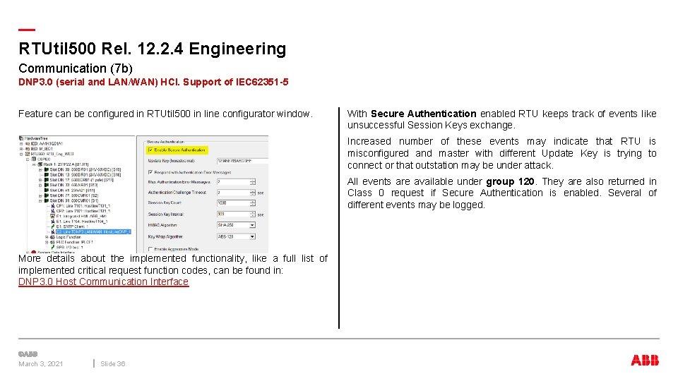 — RTUtil 500 Rel. 12. 2. 4 Engineering Communication (7 b) DNP 3. 0