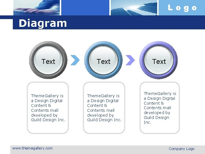 Logo Diagram Text Theme. Gallery is a Design Digital Content & Contents mall developed