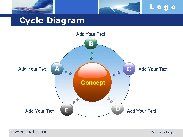 Logo Cycle Diagram Add Your Text B Add Your Text A C Add Your