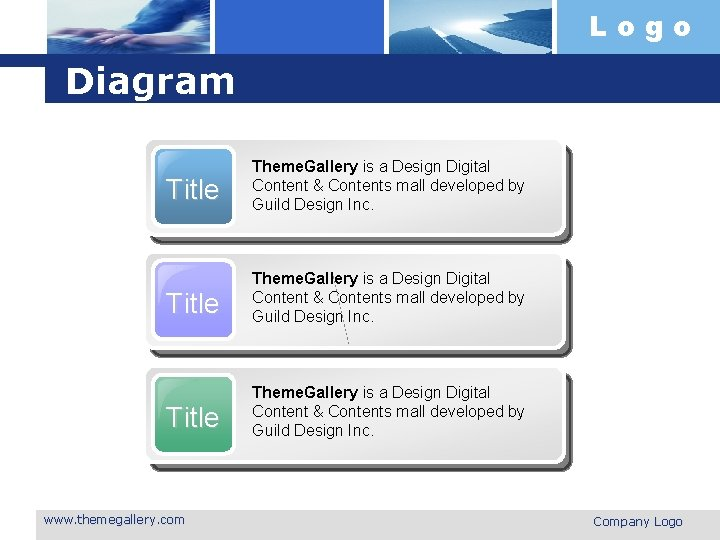 Logo Diagram Title Theme. Gallery is a Design Digital Content & Contents mall developed