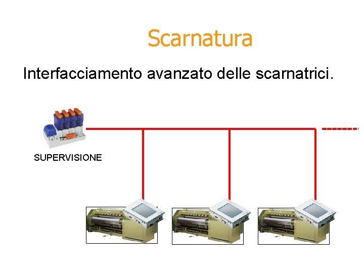 Scarnatura Interfacciamento avanzato delle scarnatrici. SUPERVISIONE