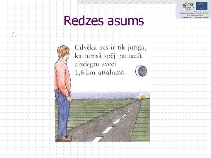 Redzes asums
