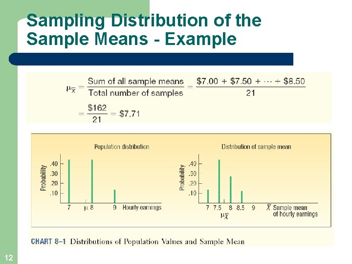 Sampling Distribution of the Sample Means - Example 12