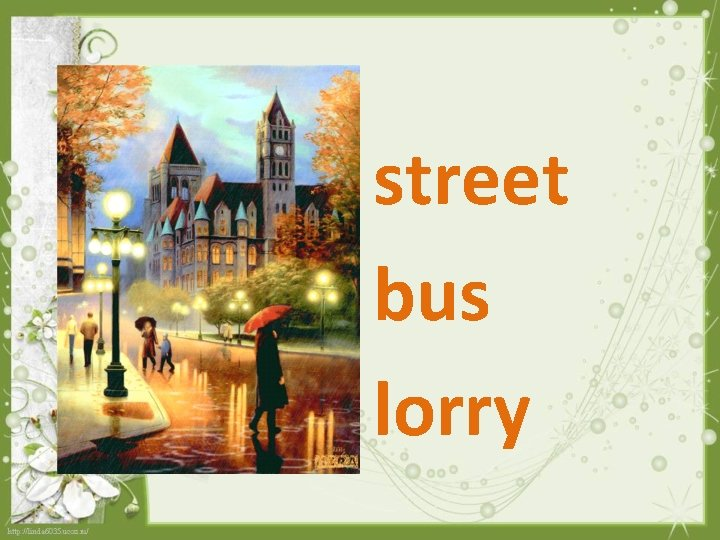 street bus lorry