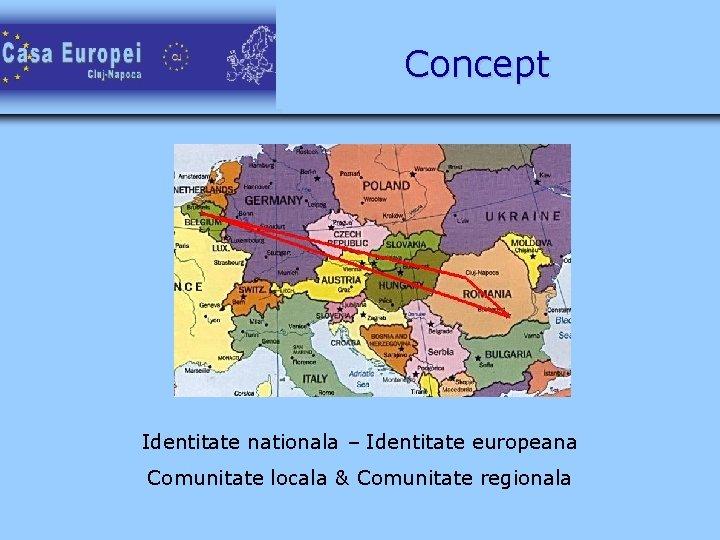 Concept Identitate nationala – Identitate europeana Comunitate locala & Comunitate regionala