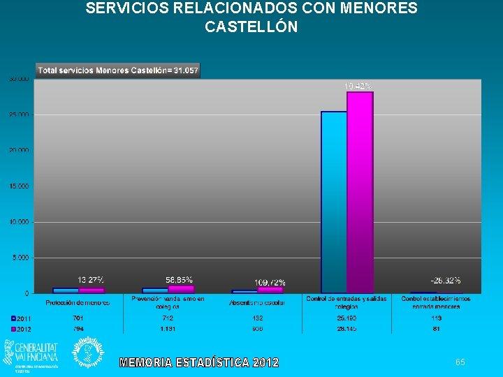 SERVICIOS RELACIONADOS CON MENORES CASTELLÓN 65