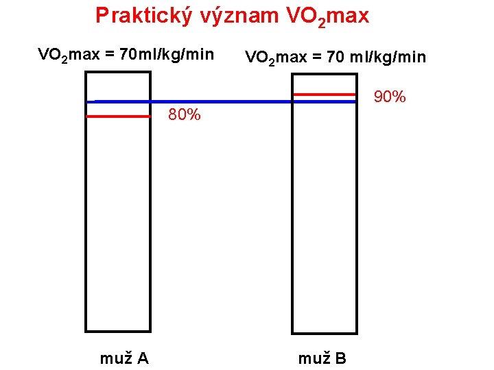 Praktický význam VO 2 max = 70 ml/kg/min VO 2 max = 70 ml/kg/min