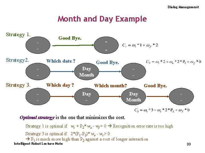 Dialog Management Month and Day Example Strategy 1. - Strategy 2. Good Bye. -