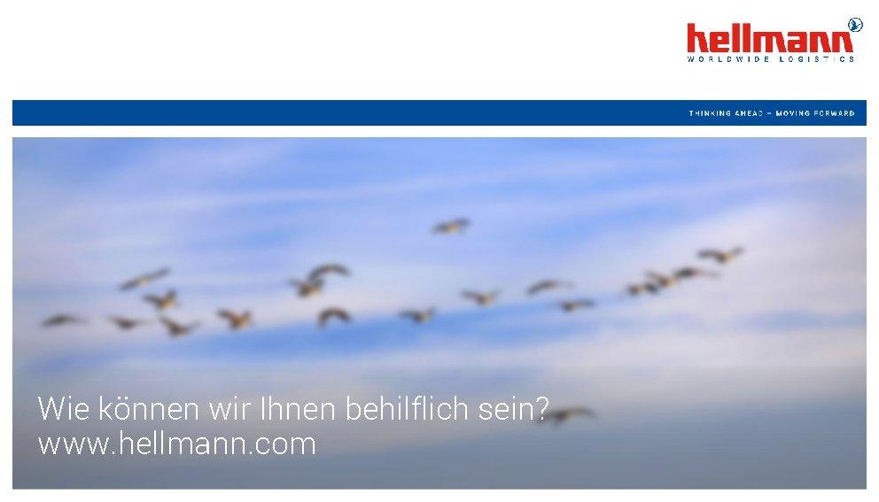 Wie können wir Ihnen behilflich sein? www. hellmann. com