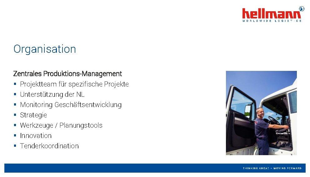 Organisation Zentrales Produktions-Management § § § § Projektteam für spezifische Projekte Unterstützung der NL