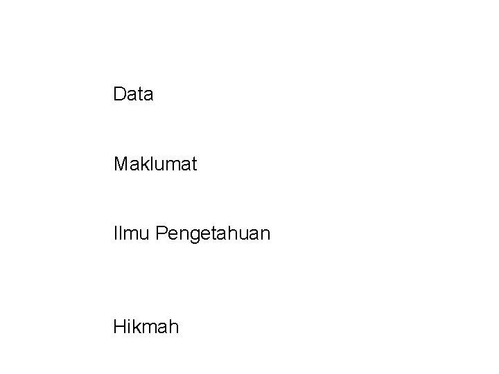 Data Maklumat Ilmu Pengetahuan Hikmah