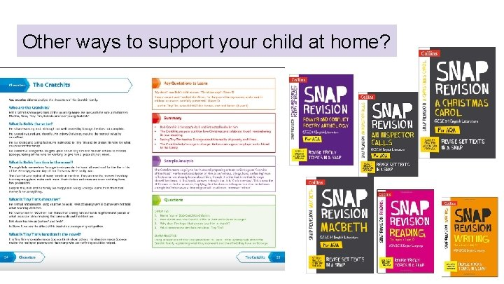 Other ways to support your child at home?