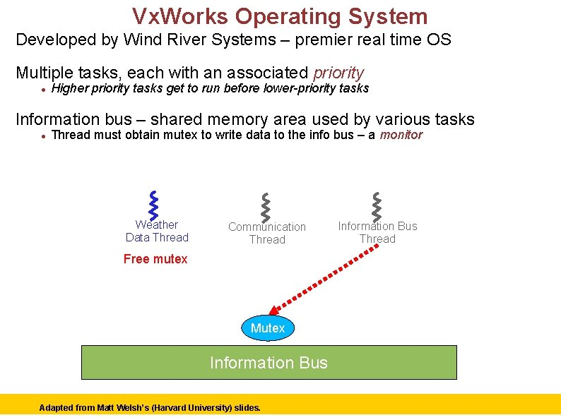 Vx. Works Operating System Developed by Wind River Systems – premier real time OS