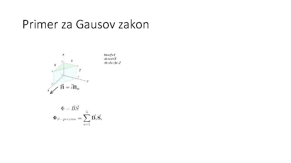 Primer za Gausov zakon