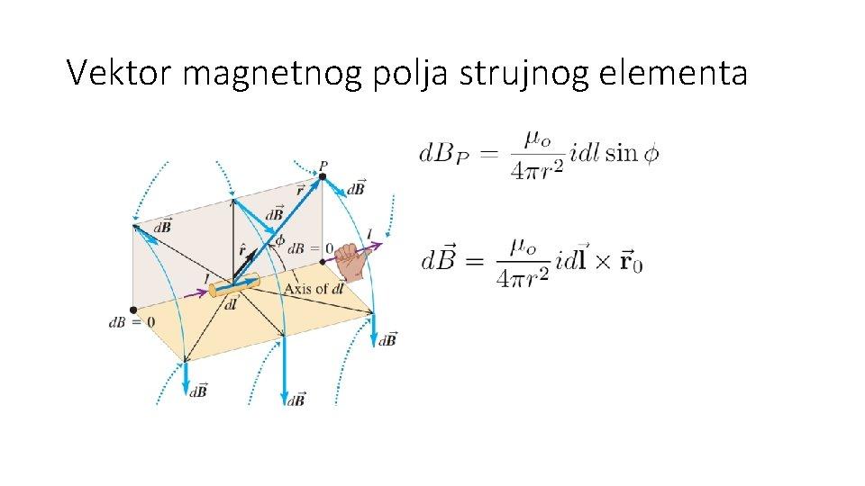 Vektor magnetnog polja strujnog elementa