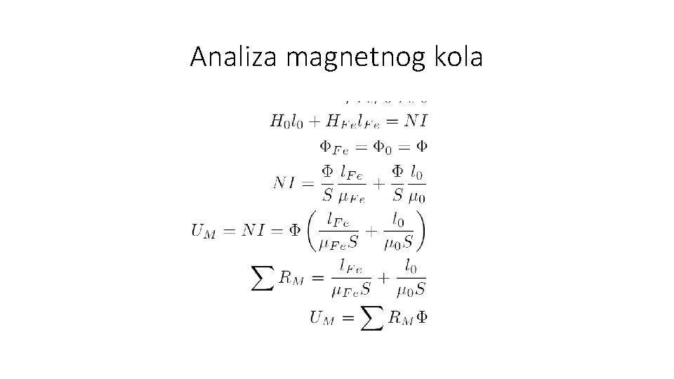 Analiza magnetnog kola