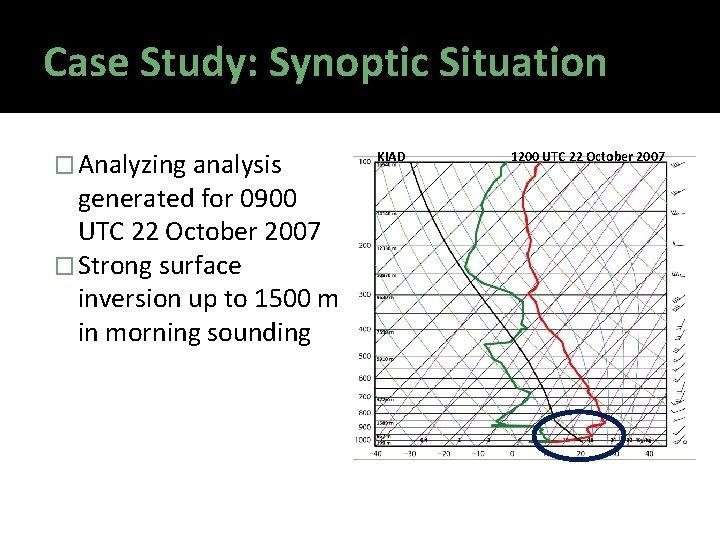 Case Study: Synoptic Situation � Analyzing analysis generated for 0900 UTC 22 October 2007