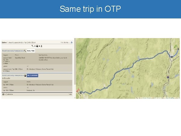 Same trip in OTP