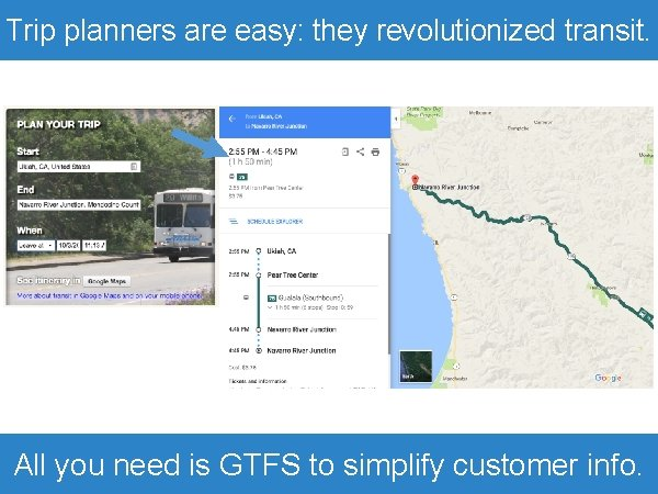 Trip planners are easy: they revolutionized transit. All you need is GTFS to simplify