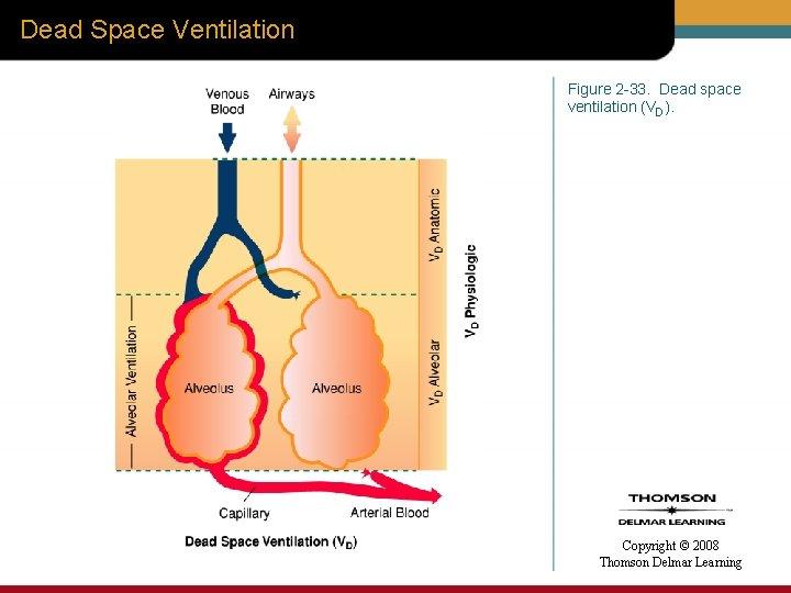 Dead Space Ventilation Figure 2 -33. Dead space ventilation (VD). Copyright © 2008 Thomson