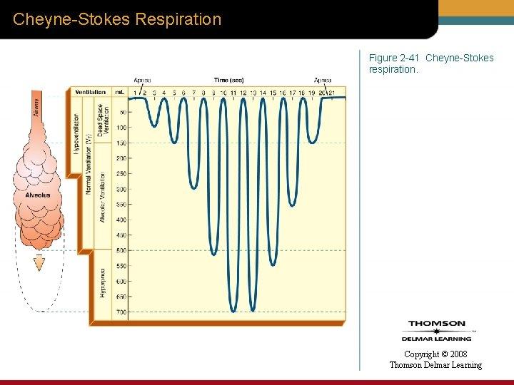 Cheyne-Stokes Respiration Figure 2 -41 Cheyne-Stokes respiration. Copyright © 2008 Thomson Delmar Learning