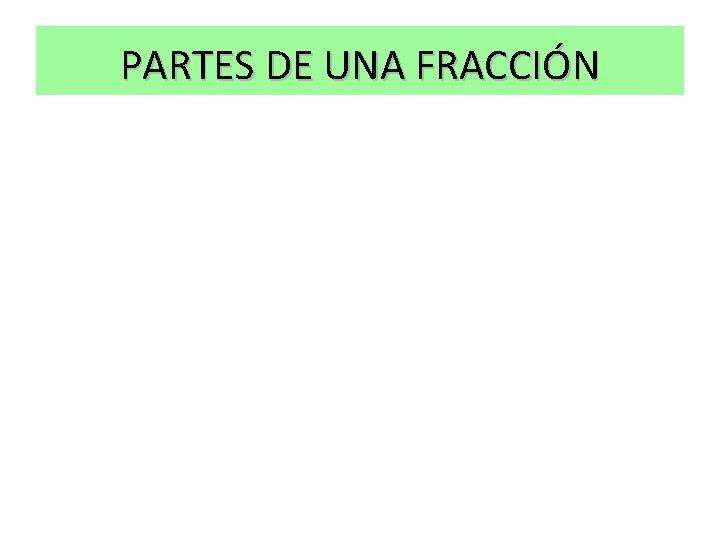 PARTES DE UNA FRACCIÓN