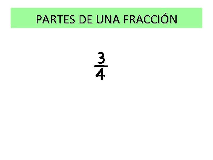 PARTES DE UNA FRACCIÓN ¾