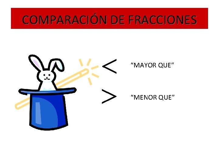 """COMPARACIÓN DE FRACCIONES """"MAYOR QUE"""" """"MENOR QUE"""""""
