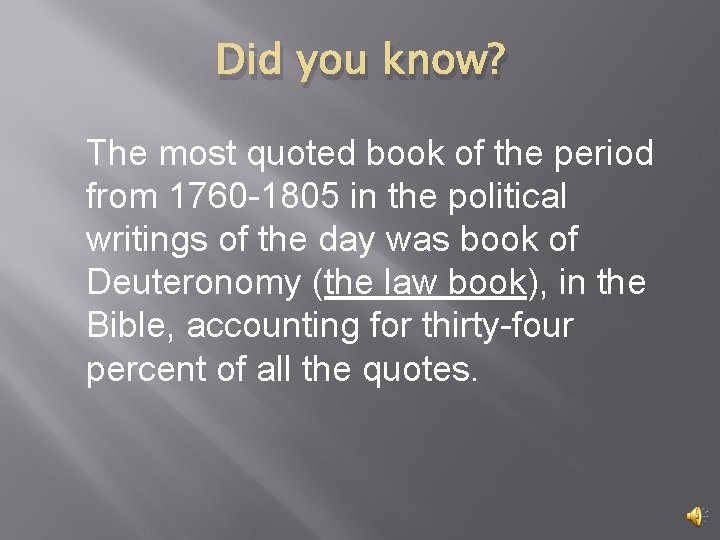 Did you know? The most quoted book of the period from 1760 -1805 in