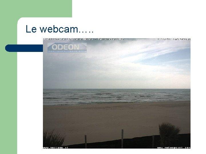 Le webcam…. .
