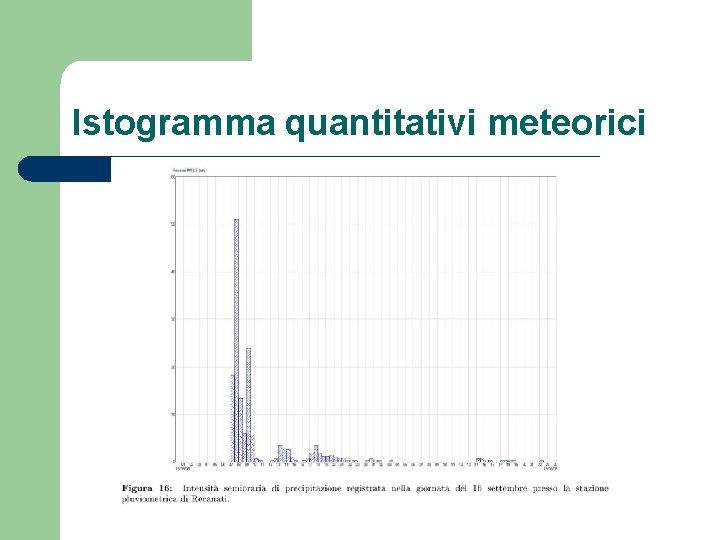 Istogramma quantitativi meteorici