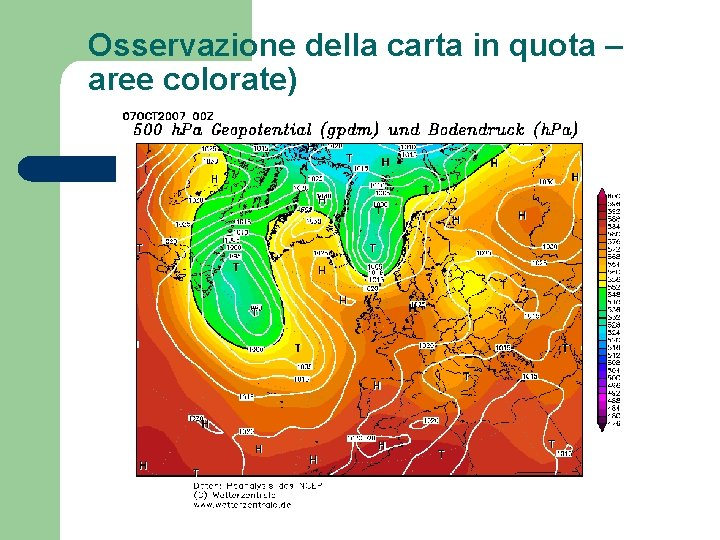 Osservazione della carta in quota – aree colorate)