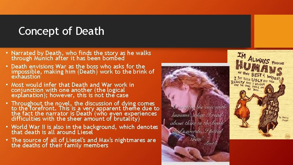 Concept of Death • Narrated by Death, who finds the story as he walks