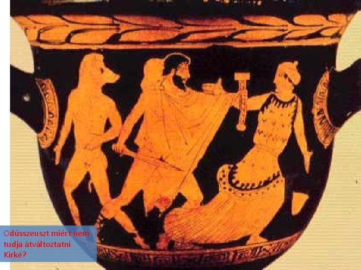 Odüsszeuszt miért nem tudja átváltoztatni Kirké?