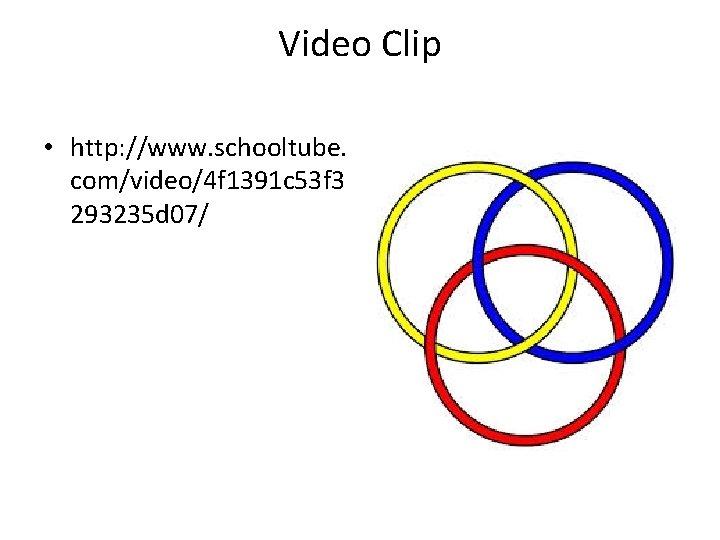 Video Clip • http: //www. schooltube. com/video/4 f 1391 c 53 f 3 293235