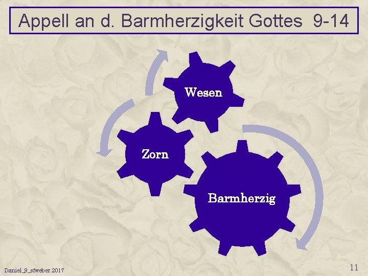 Appell an d. Barmherzigkeit Gottes 9 -14 Wesen Zorn Barmherzig Daniel_9_sfweber. 2017 11