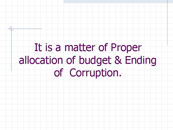 It is a matter of Proper allocation of budget & Ending of Corruption.