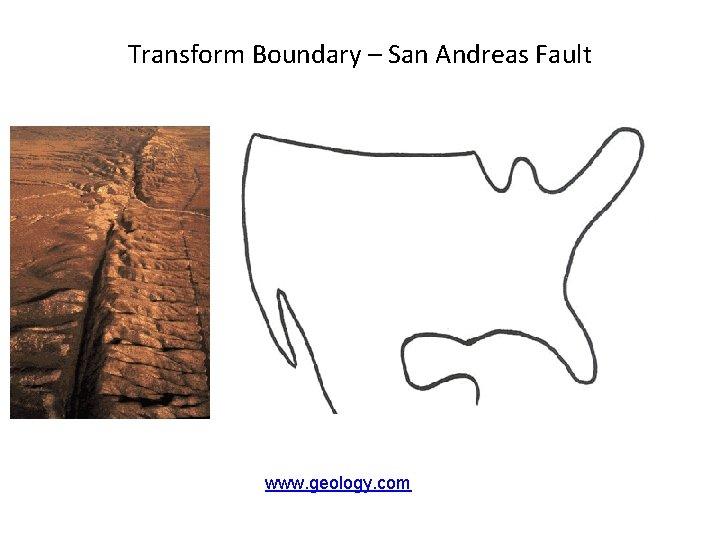Transform Boundary – San Andreas Fault www. geology. com