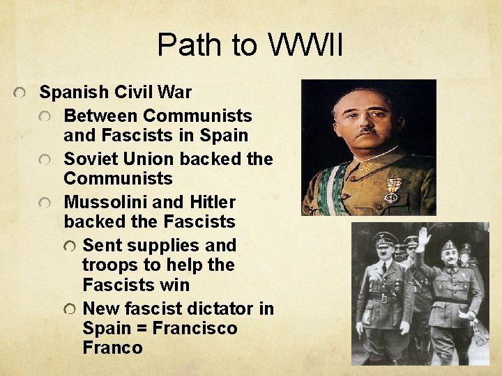 Path to WWII Spanish Civil War Between Communists and Fascists in Spain Soviet Union