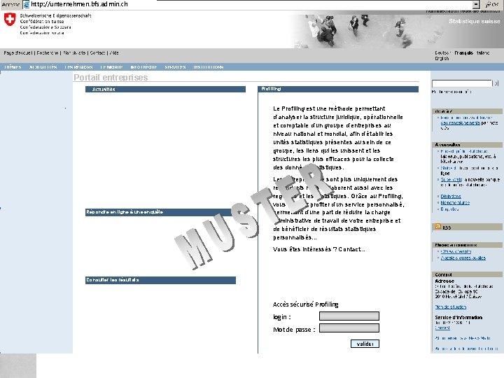 http: //unternehmen. bfs. admin. ch Federal Department of Home Affairs FDHA Federal Statistical Office
